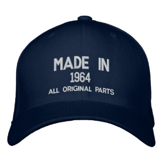 Made in 1964 Original Parts Embroidered Cap Embroidered Hat