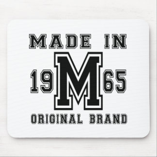 MADE IN 1965 ORIGINAL BRAND BIRTHDAY DESIGNS MOUSE PAD