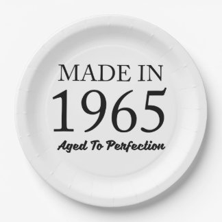 Made In 1965 Paper Plate