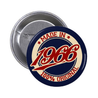 Made In 1966 2 Inch Round Button