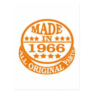 Made in 1966 all original parts postcard