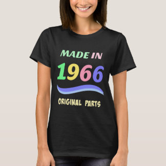 Made in 1966, colorful text design T-Shirt