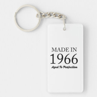 Made In 1966 Double-Sided Rectangular Acrylic Keychain