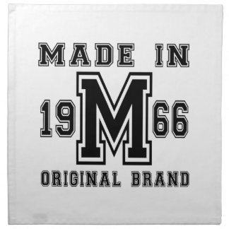 MADE IN 1966 ORIGINAL BRAND BIRTHDAY DESIGNS NAPKIN