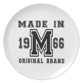 MADE IN 1966 ORIGINAL BRAND BIRTHDAY DESIGNS PLATE