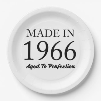 Made In 1966 Paper Plate