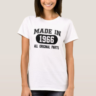 Made in 1966 vintage - black white simple design T-Shirt