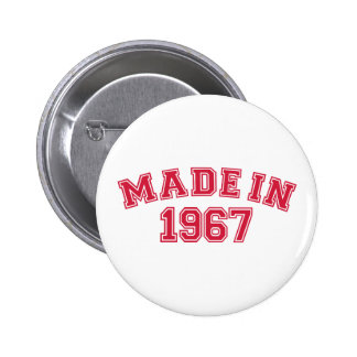 Made in 1967 2 inch round button