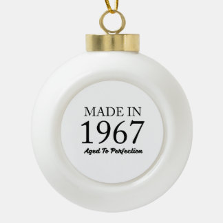 Made In 1967 Ceramic Ball Christmas Ornament