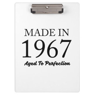 Made In 1967 Clipboard