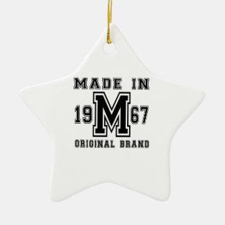 MADE IN 1967 ORIGINAL BRAND BIRTHDAY DESIGNS CERAMIC ORNAMENT