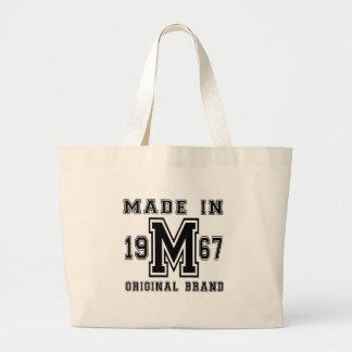 MADE IN 1967 ORIGINAL BRAND BIRTHDAY DESIGNS LARGE TOTE BAG