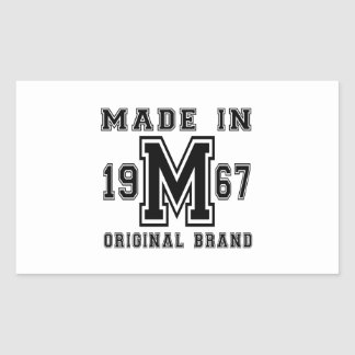 MADE IN 1967 ORIGINAL BRAND BIRTHDAY DESIGNS STICKER
