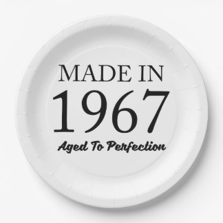 Made In 1967 Paper Plate