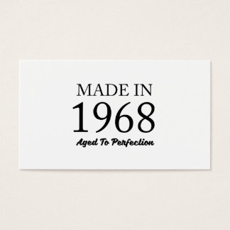 Made In 1968 Business Card