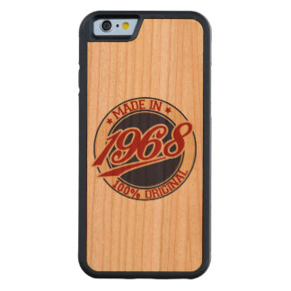Made In 1968 Carved Cherry iPhone 6 Bumper Case