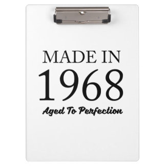 Made In 1968 Clipboard