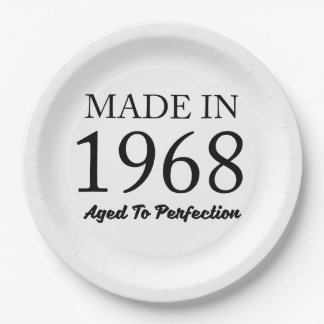 Made In 1968 Paper Plate