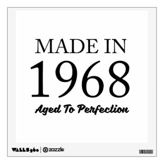 Made In 1968 Wall Sticker
