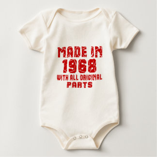 Made In 1968 With All Original Parts Baby Bodysuit