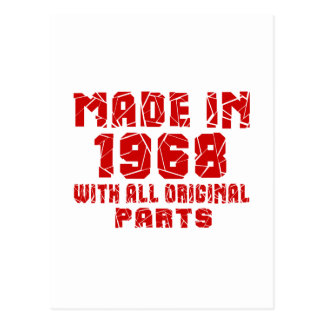 Made In 1968 With All Original Parts Postcard