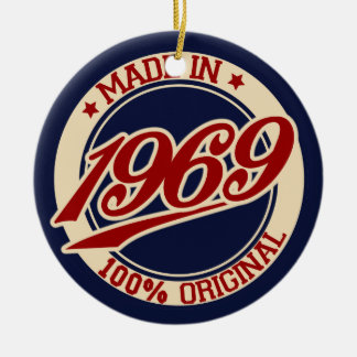 Made In 1969 Ceramic Ornament