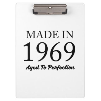 Made In 1969 Clipboard
