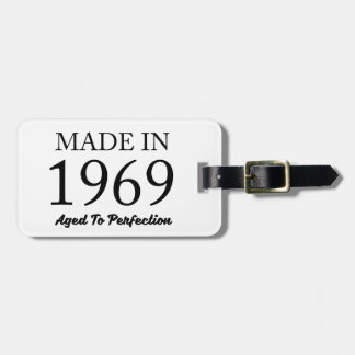 Made In 1969 Luggage Tag