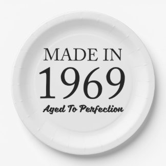 Made In 1969 Paper Plate