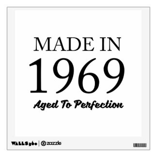 Made In 1969 Wall Sticker