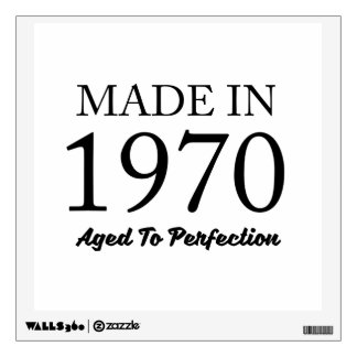Made In 1970 Wall Decal