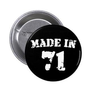 Made In 1971 2 Inch Round Button
