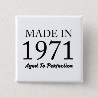 Made In 1971 2 Inch Square Button