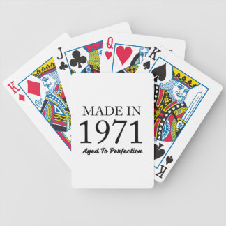 Made In 1971 Bicycle Playing Cards
