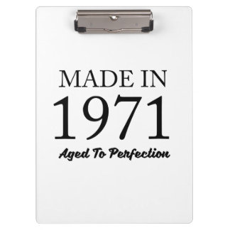 Made In 1971 Clipboard