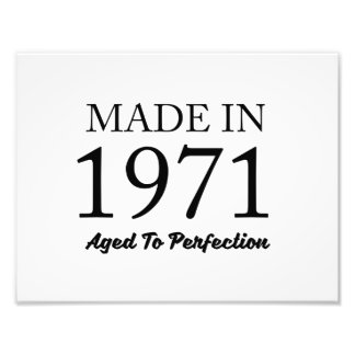 Made In 1971 Photo Print