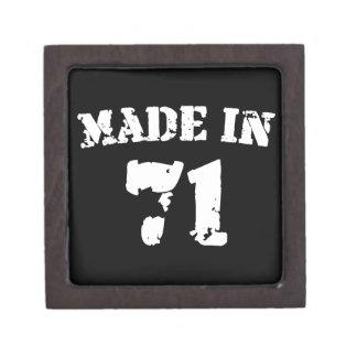 Made In 1971 Premium Jewelry Box