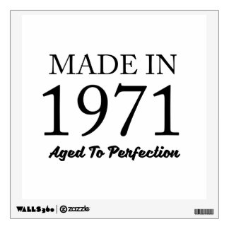 Made In 1971 Wall Decal