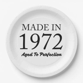 Made In 1972 9 Inch Paper Plate