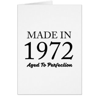 Made In 1972 Card