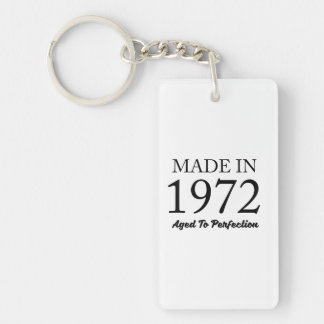 Made In 1972 Double-Sided Rectangular Acrylic Keychain