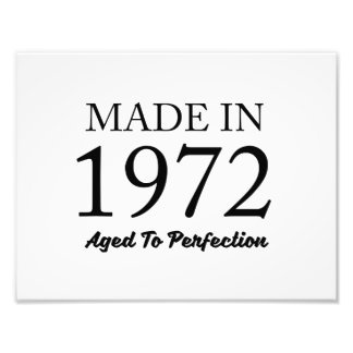 Made In 1972 Photo Print