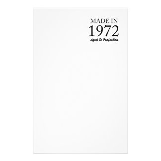 Made In 1972 Stationery Paper