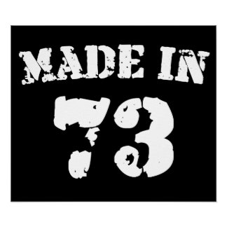 Made In 1973 Poster