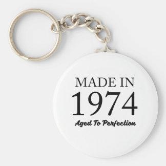 Made In 1974 Basic Round Button Keychain