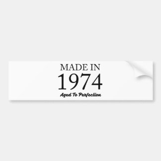 Made In 1974 Bumper Sticker