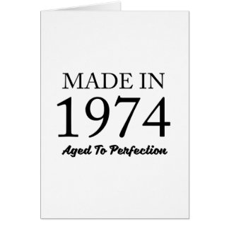 Made In 1974 Card
