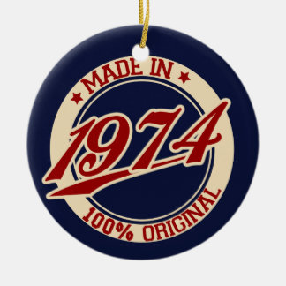 Made In 1974 Ceramic Ornament