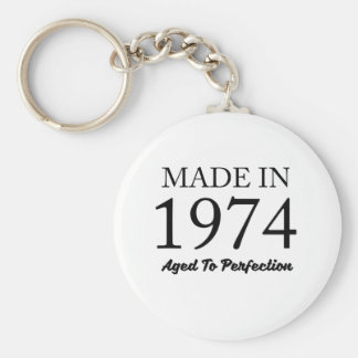 Made In 1974 Keychain