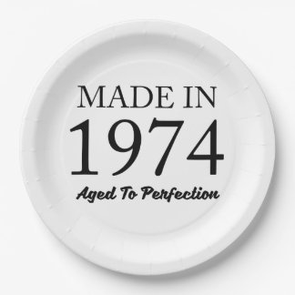 Made In 1974 Paper Plate
